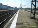 Bande podotactile résine méthacrylate Blanc sur quai de gare